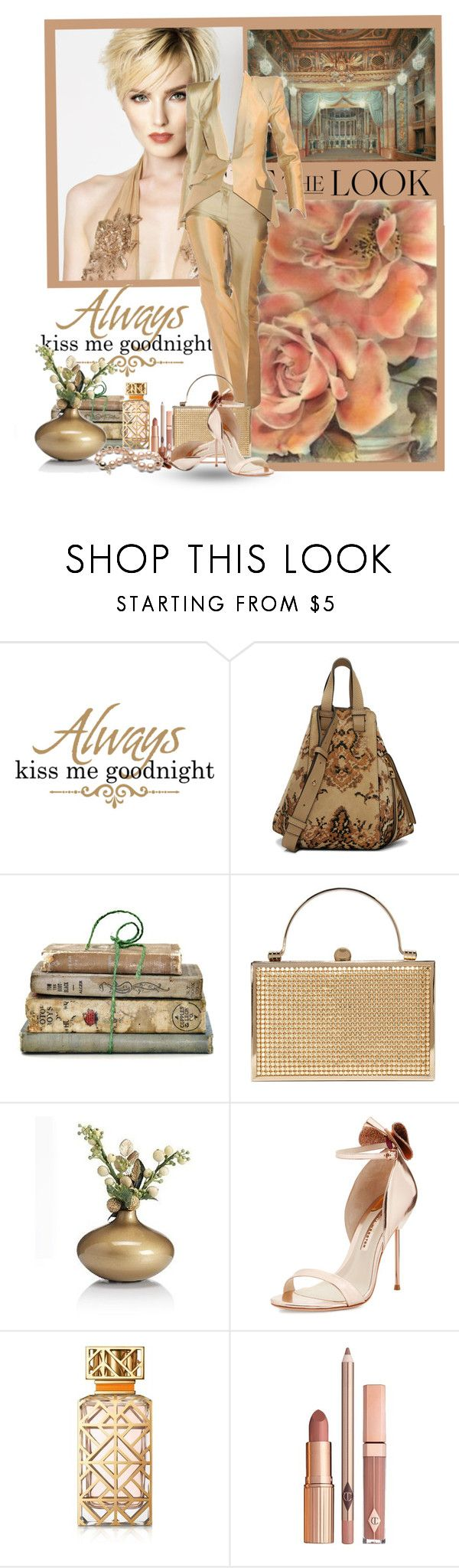 """""""Get the Look"""" by flowerchild805 ❤ liked on Polyvore featuring WALL, Loewe, Shabby Chic, Marks & Spencer, Sophia Webster, Tory Burch and Dolce Vita"""