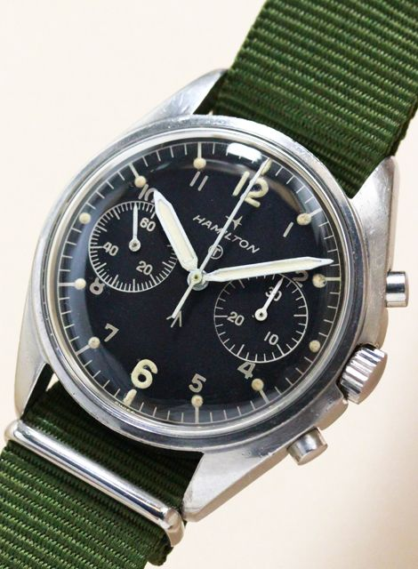 Minute Recorder Chronograph Royal Air Force Cal.7733 1970'S