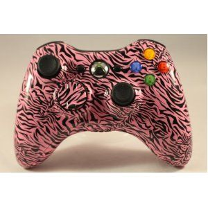 PINK ZEBRA Xbox 360 Modded Controller (Rapid Fire) COD MW3, Black Ops, MW2, MOD GAMEPAD BTW...for the best game cheats, tips,DL, check out: http://cheating-games.imobileappsys.com/