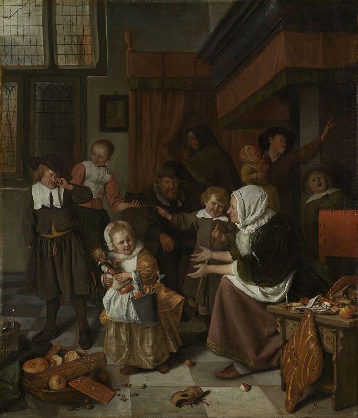 The feast of Saint Nicholas, Jan Havicksz. Steen, 1665 - 1668.