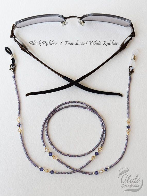 Swarovski gafas cadena collar de soporte de la por AlulaCreations