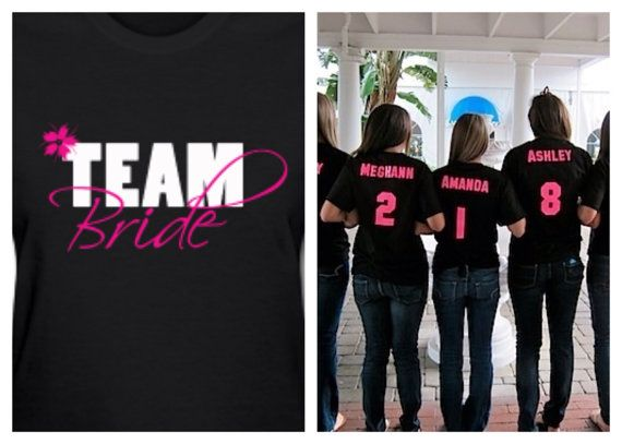 """Personalized """"Team Bride"""" T-Shirts on Etsy, $12.00"""