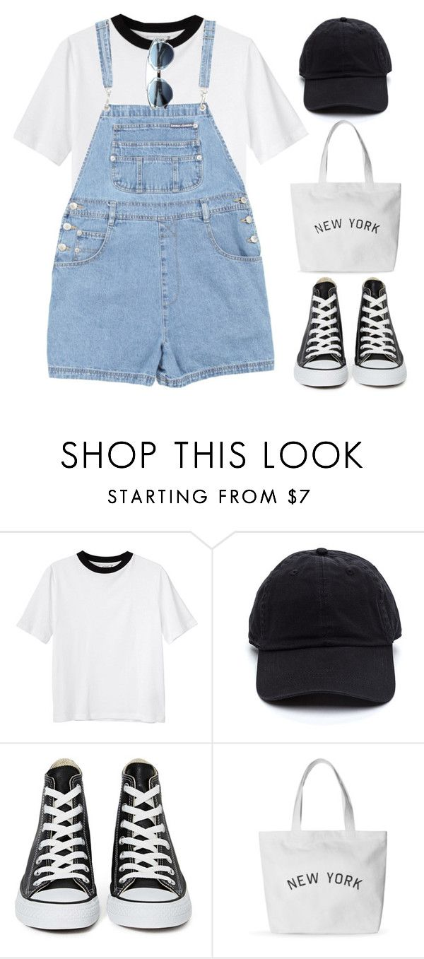 """NY"" by brigi-bodoki ❤ liked on Polyvore featuring Monki, Converse and Christian Dior"