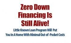 Zero Down home loans are great for qualified first time home buyers!