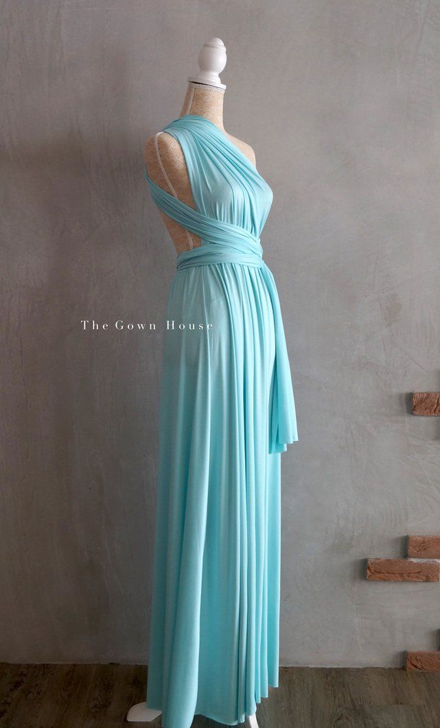 The Infinity Gown in Tiffany Blue | Wedding bridesmaid dress ...