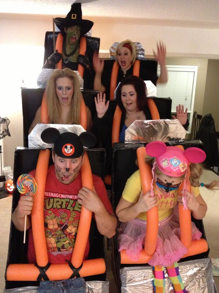 Roller-coaster Halloween costume 2013 - won us best group costume at the cabaret we went to!