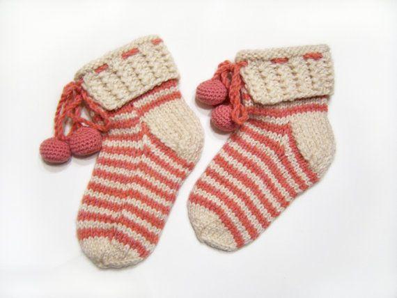 Mano a maglia Slipper Socks letto notte di UnlimitedCraftworks