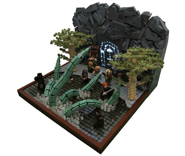 lego mocs fantasy the watcher in the water by