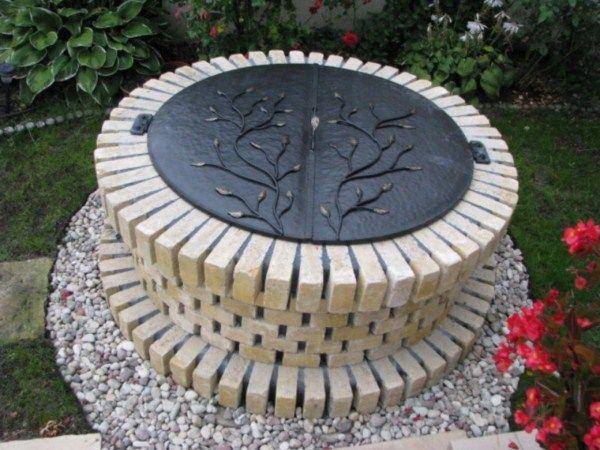 studnia w ogrodzie, kowalstwo artystyczne- klapa do studni nakrywka