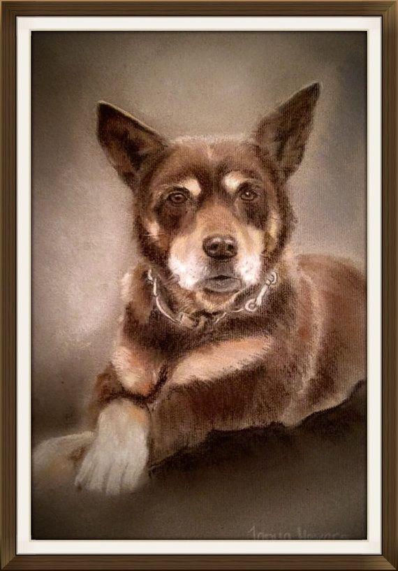 Custom Pet portrait from photograph - sample