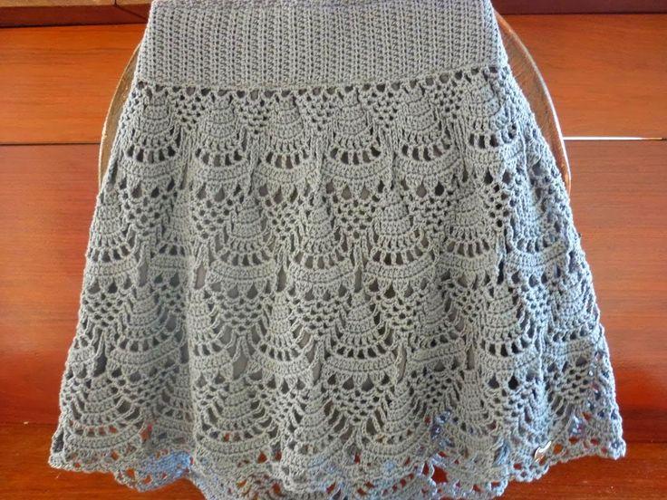 Crochet skirt ♥LCS-MRS♥ with basic diagram ---- ***TOQUE MÁGICO***: SAIA EM CROCHÊ.