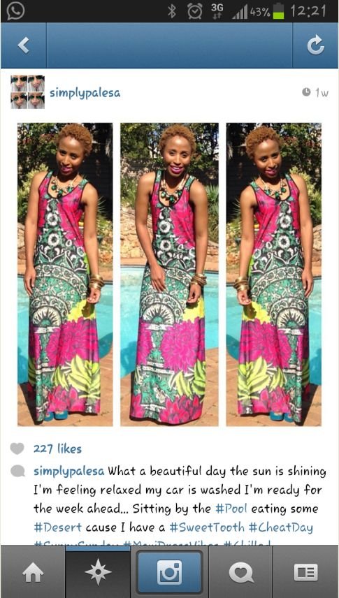 Spotted! @Palesa Mahlaba , Truelove magazine's fashion editor rocking our lovely summer dress available in an Ackermans store near you, for just R149.95 you can look just as incredible!