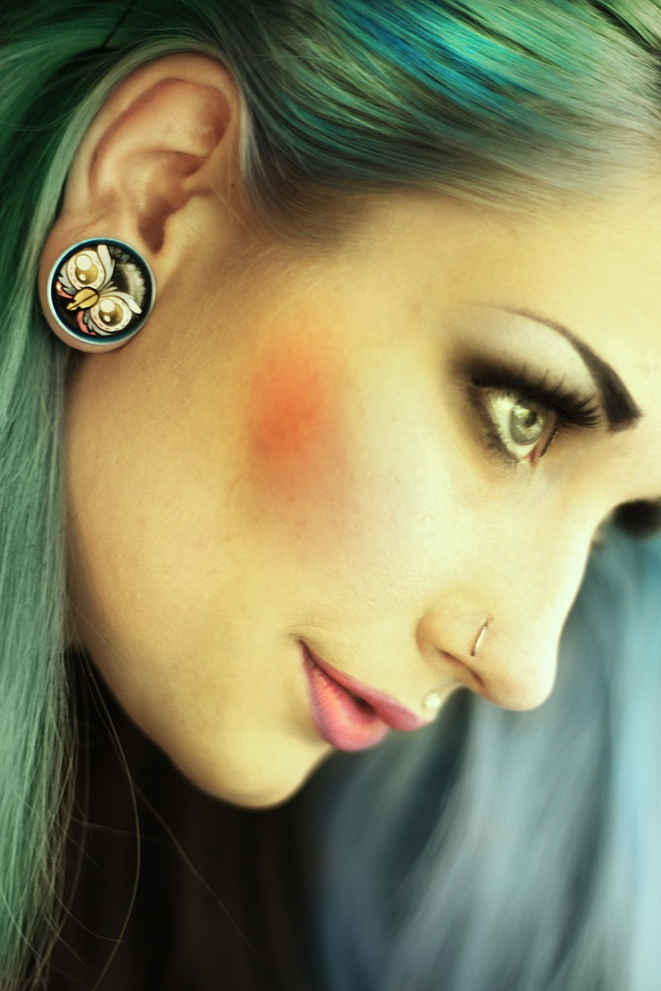 My owl plugs #owl #plugs #bluehair