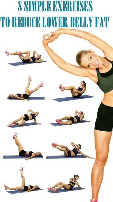8 Simple Exercises to Reduce Lower Belly Fat #SimpleExercises #Reduce Lower #BellyFat