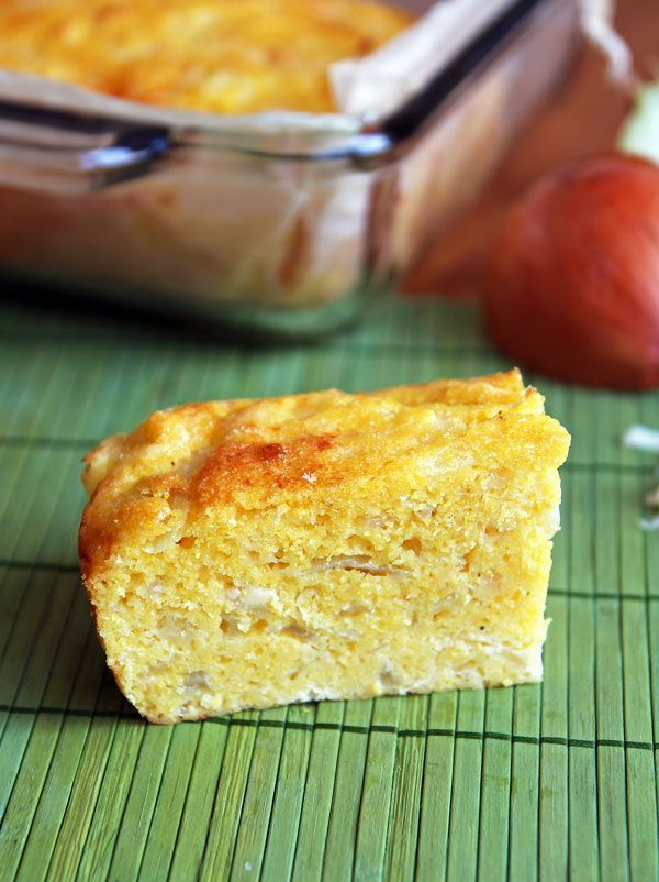 This cheesy, savory cornbread is a traditional Paraguayan dish. It is fantastic served warm alongside a meal or as a snack on its own.