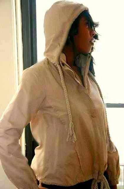 Beige Women Hoodie Jacket- Matching Dog Owner Outfit