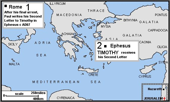 Maps of Pauls missionary journeys