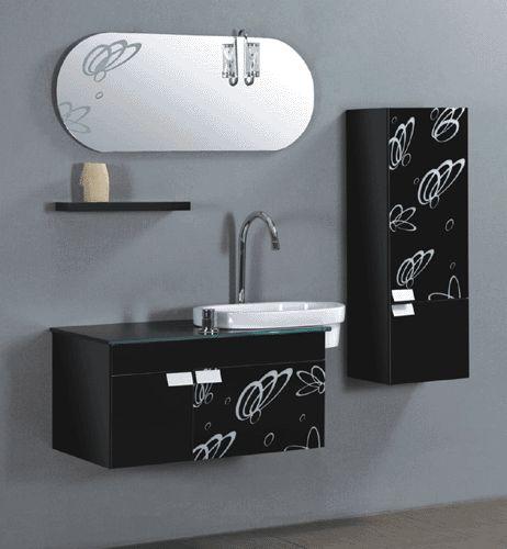 FREEBLUE Algrave fürdőszobabútor szett  Tartozékok: - mosdós, üveglapos szekrény 100 x 47 x 50 cm - fali szekrény 30 x 33 x 100 cm - tükör 100 x 40 cm  Kapható barna és fekete színben.