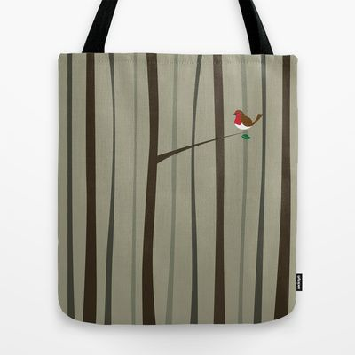 Winter Forest Tote Bag by Nameless Shame - $22.00