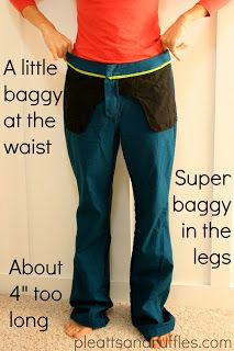 Tutorial: How to Take In Pants I'm probably never going to do this, but minds well pin it eh...