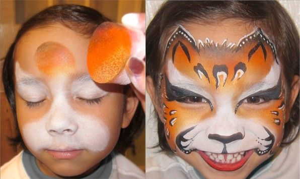 Step by step Leopard Face Paint