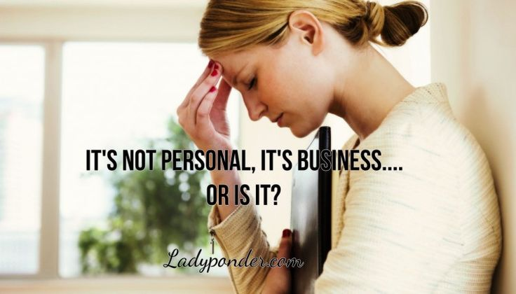 Business is personal, because we each crave a deeper connection through our work. And we like to know that we are making a difference when we put our heart and soul into something.  www. ladyponder.com