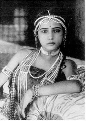 Seeta Devi or Sita Devi was one of the early stars of silent films in the Indian film industry. This still is from the film, Prem Sanyas (The Light of Asia) 1925.