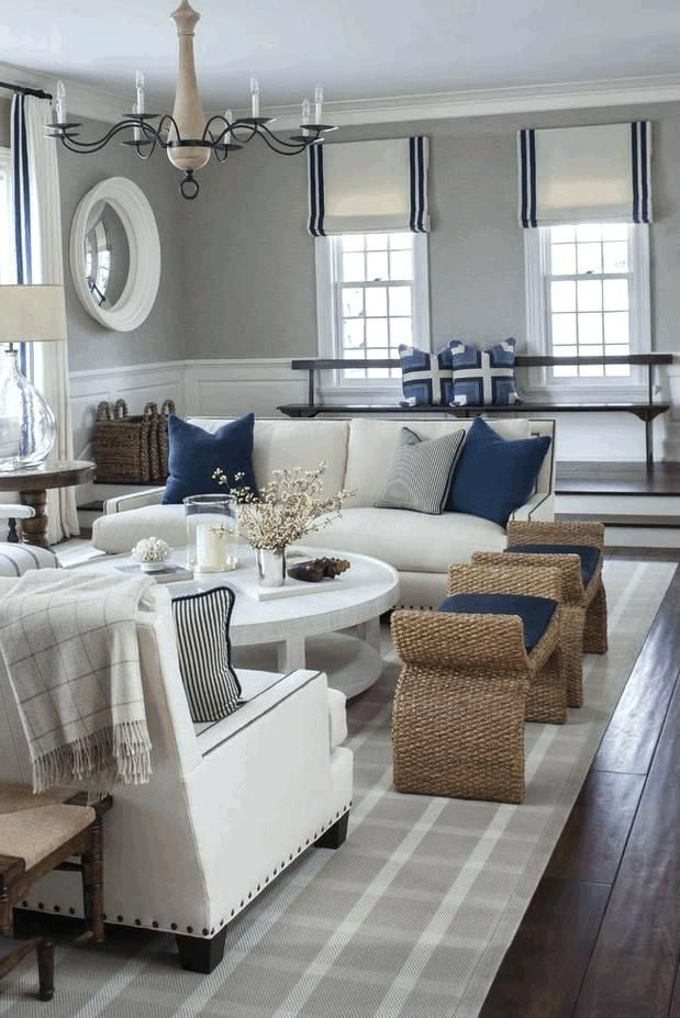 Window Wall Decor Living Room Coastal Room Ideas Three Sides Glass