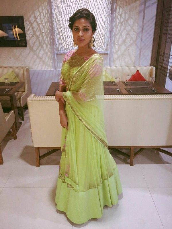Amala Paul, her husband AL Vijay and brother Abhijith attended the wedding reception of Shantanu and Keerthy - Photo Gallery