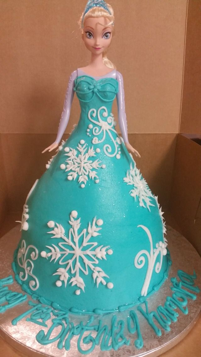 1000 Ideas About Frozen Doll Cake On Pinterest Anna