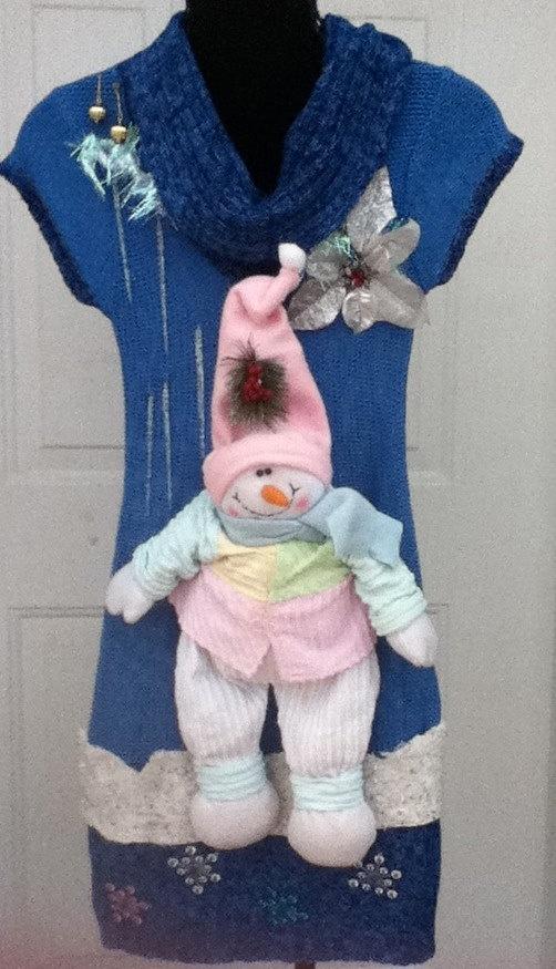 Ugly Christmas Sweater Dress Size Medium  An by stealofadeal, $72.00