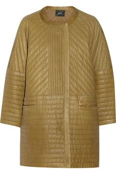 Isabel Marant Abadi quilted leather cocoon coat
