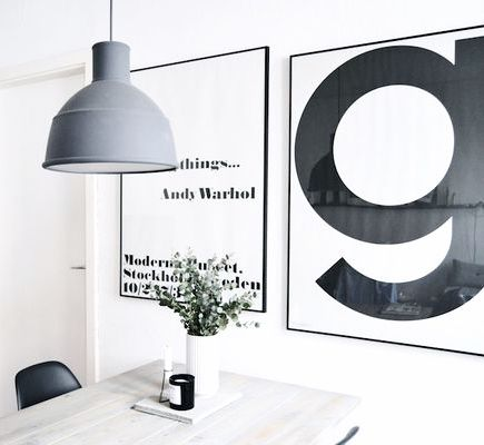 Via Homesick | Playtype G Poster | Muuto Unfold Lamp | Andy Warhol