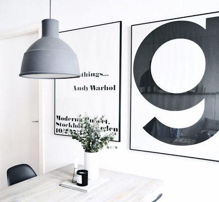 Via Homesick | Playtype G Poster | Muuto Unfold Lamp | Andy Warhol