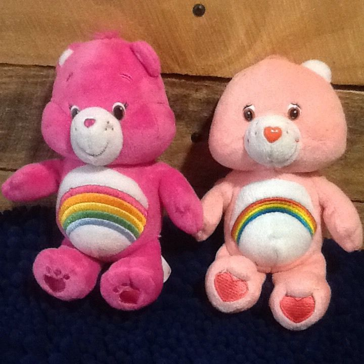 "Lot 2--Care Bear Cheer Plush Teddy Bears Stuffed Animals 8"" & 9"" | Dolls & Bears, Bears, Care Bears | eBay!"