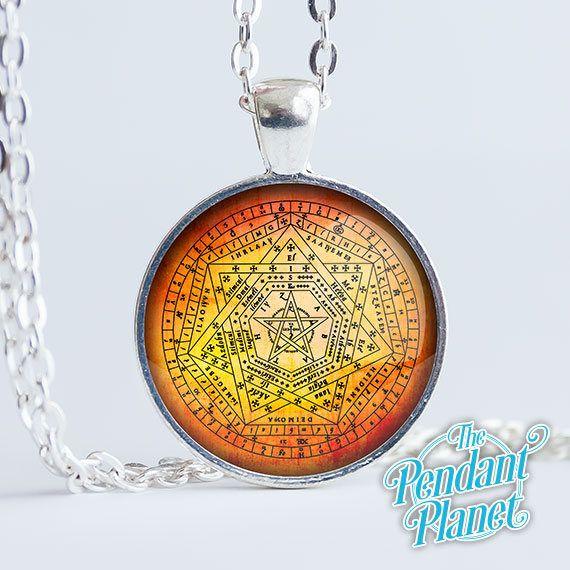 Sigillum Dei Aemeth - Magical Charm - Mystic Symbols - Middle Ages Mysticism - Pagan Jewelry - Dr John Dee - Enochian Magic - Angels by ThePendantPlanet