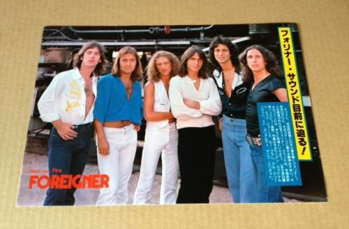 1978-Foreigner-JAPAN-mag-photo-pinup-mini-poster-clipping-cutting