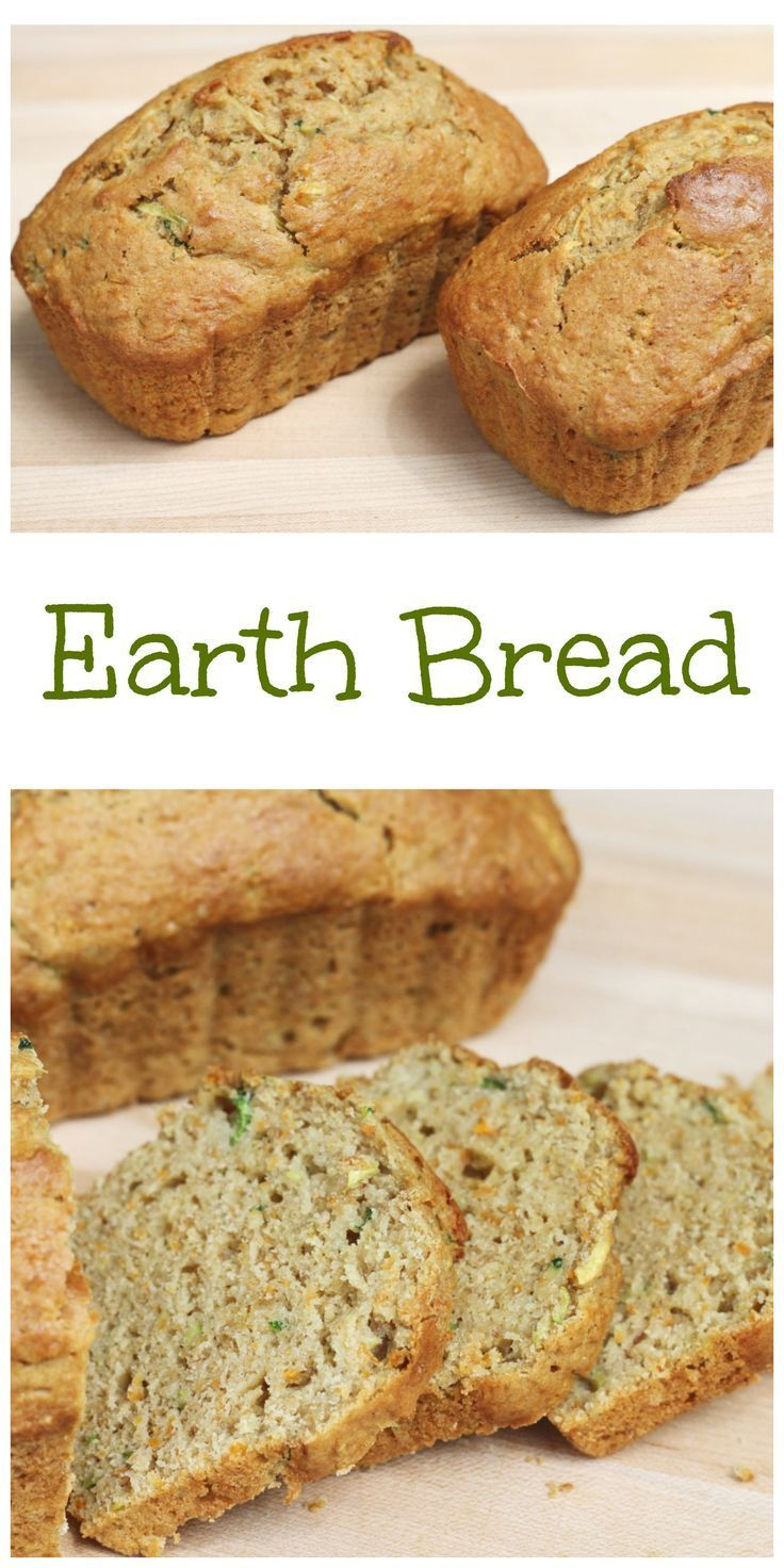 This Earth Bread is full of banana, zucchini, grated carrot and whole wheat flour! Healthy and hearty, it is perfect for an after school snack! {Brittany's Pantry}