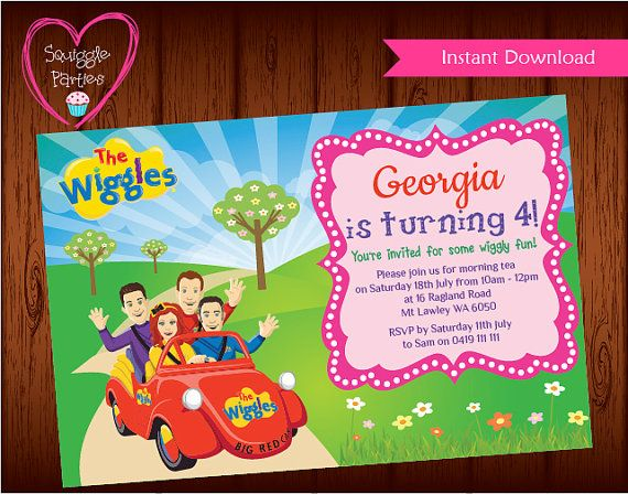 The Wiggles Invitation The Wiggles Invite for by SquiggleParties