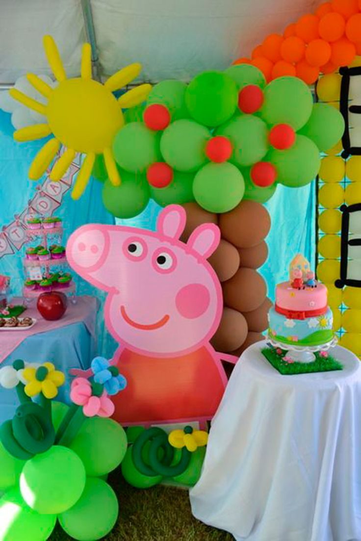 Decoracao divertida da Peppa
