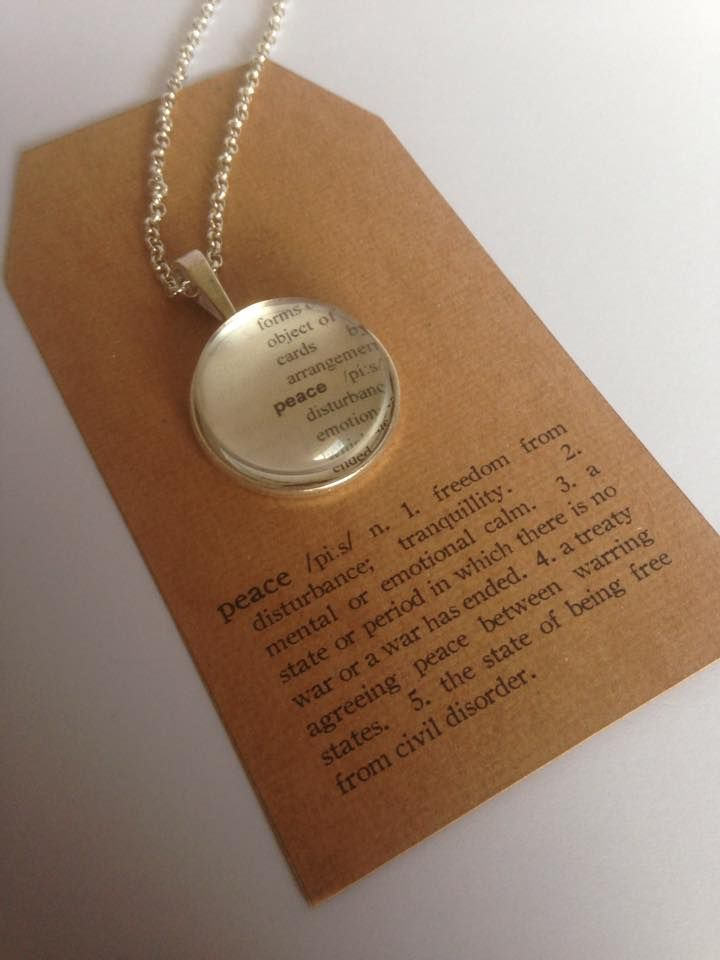 Peace Pendant  In a world of rush and chaos, sometimes all you need is a little peace xx