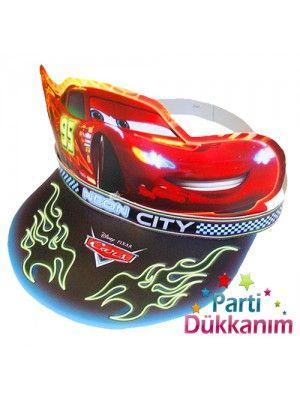 Cars Neon Kağıt Şapka (6 adet)