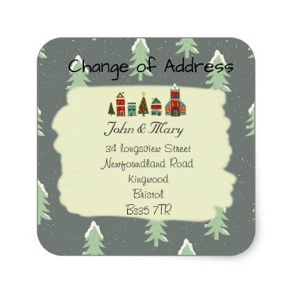 Change of Address sticker Christmas - Xmas ChristmasEve Christmas Eve Christmas merry xmas family kids gifts holidays Santa