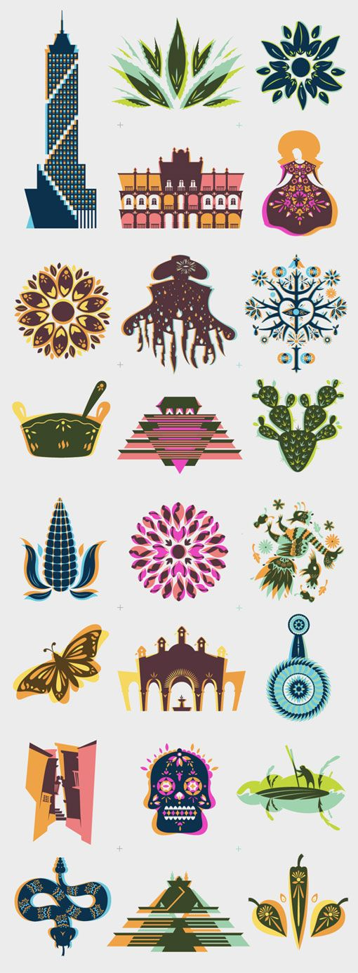 Herencia Mexicana Illustrations