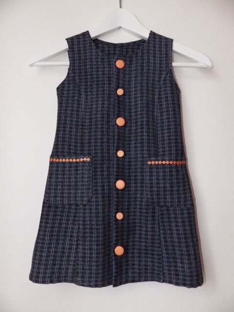 dark blue dress to kindergarden