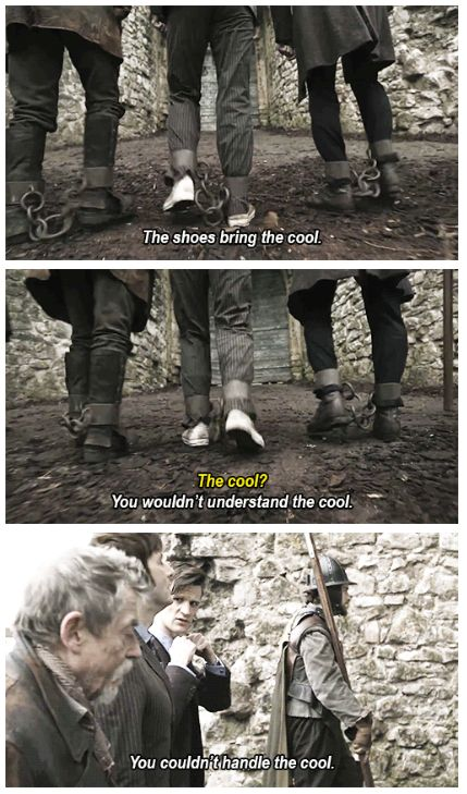 A deleted scene from Day of the Doctor. #Shoes #DoctorWho
