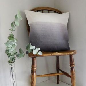 Ombre Linen Square Cushion -The perfect living room accessory as winter draws in. Craft is at the heart of the artisan trend, as it brings together rustic materials such as wood, rope and clay.