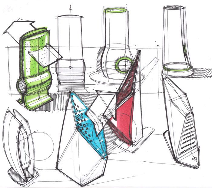 Sketches of Air Purifiers by designer Spencer Nugent