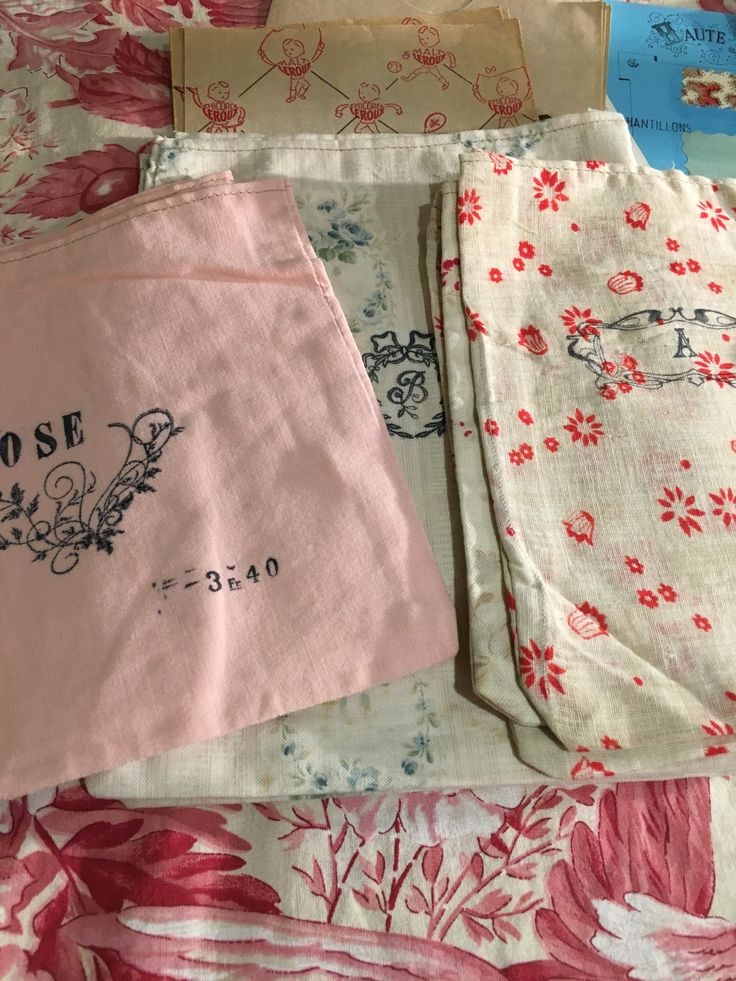 Sweet little sachet bags. Old store stock. From Paris