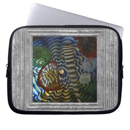 Creative Glass Blowing Computer Sleeve - pattern sample design template diy cyo customize